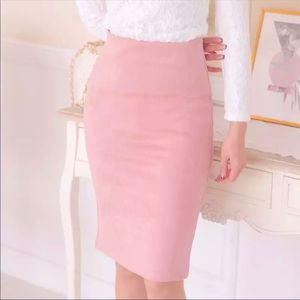 💼🎉HP🎉Solid suede pencil midi skirt